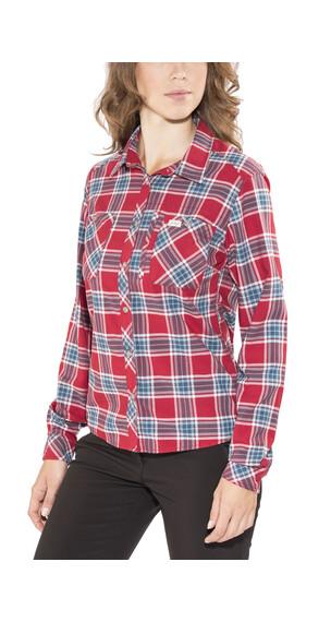 Lundhags Jaksa overhemd en blouse lange mouwen rood/blauw